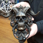 Diabolus Horned Skull Door Knocker 25cm
