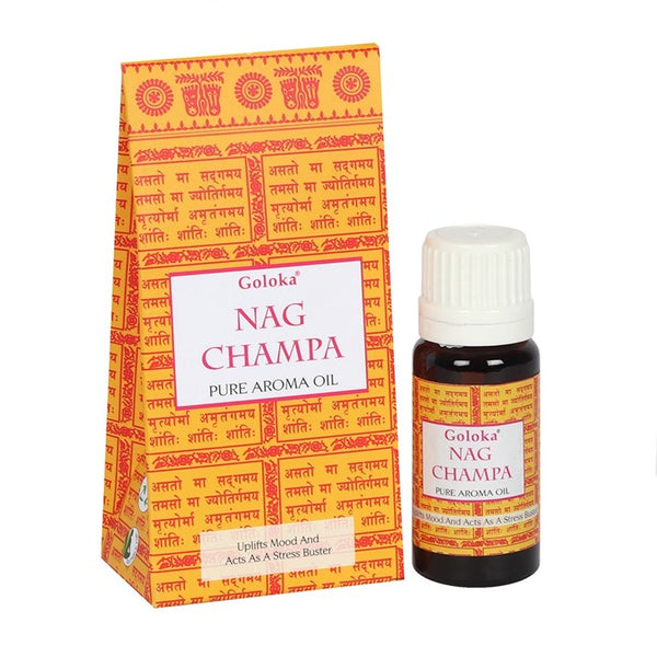 GOLOKA NAG CHAMPA FRAGRANCE OIL 10ML