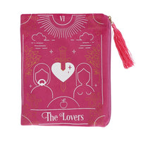 THE LOVERS TAROT CARD ZIPPERED BAG