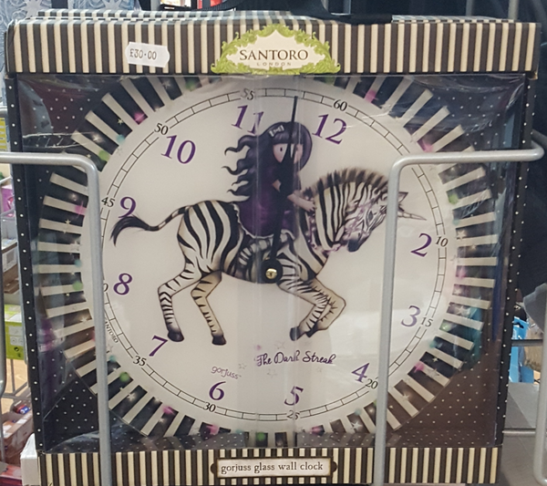 "Santoro Gorjuss ""The Dark Streak"" Wall Clock"
