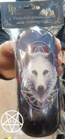 Guardian of the Fall Glasses Case Wolf Design by Lisa Parker