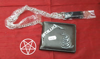 Officially licensed Metallica Band Black Album Wallet with Chain
