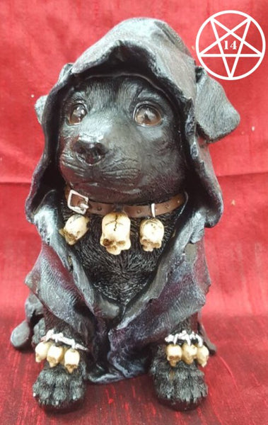 Reapers Canine Cloaked Grim Reaper Dog Figurine 17cm