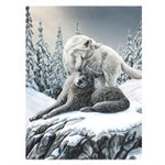 Small Snow Kisses Canvas Print by Lisa Parker