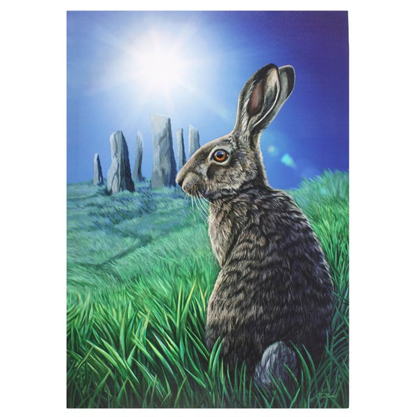 SOLSTICE CANVAS HARE PLAQUE 50X70CM DESIGN BY LISA PARKER