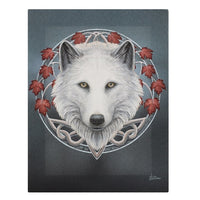 19X25CM GUARDIAN OF THE FALL CANVAS PLAQUE BY LISA PARKER WOLF PICTURE