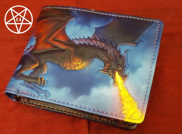Fire From The Sky Dragon Wallet Design by James Ryman