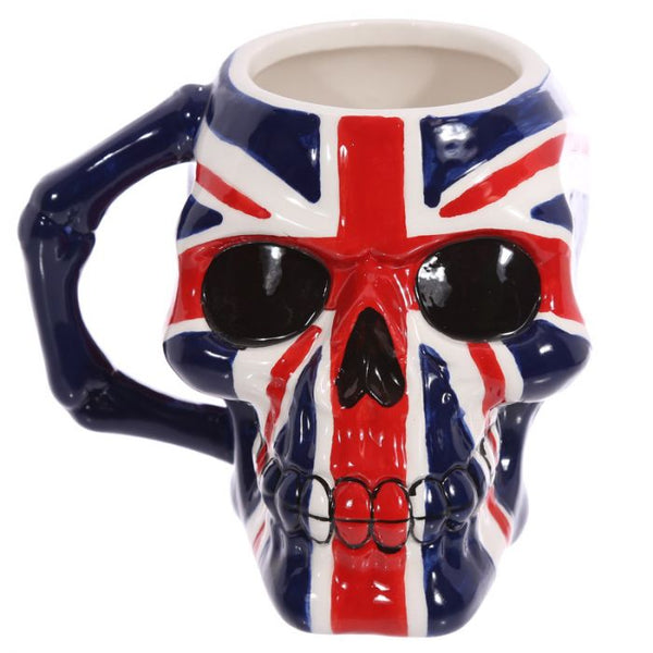 Union Flag Skull Head Mug Union Jack