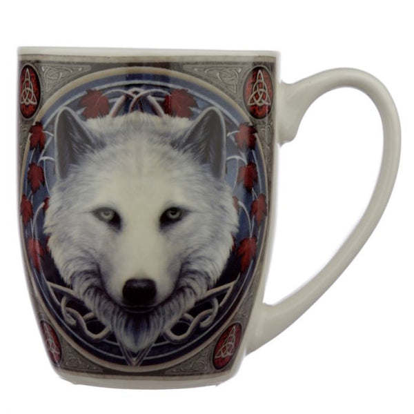 Lisa Parker Guardian of the Fall Wolf Porcelain Mug