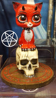 Devil Kitty Cat Pentagram Ornament 16cm Design by James Ryman