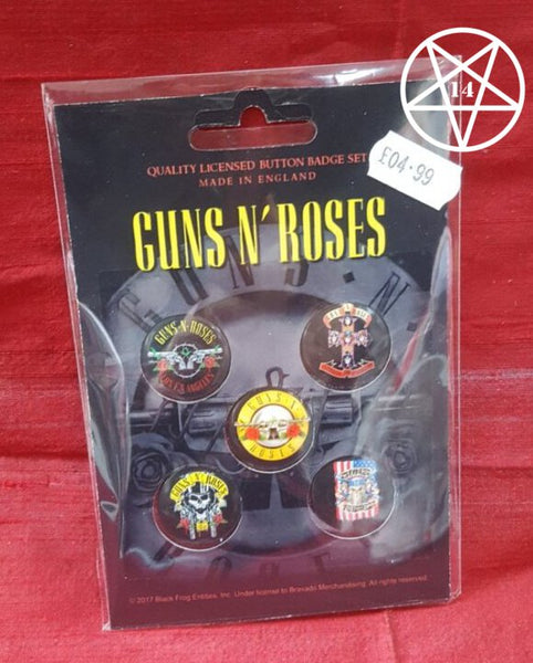 Guns N Roses Band Button Badge Set
