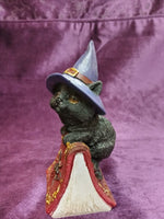 12.7cm Hocus Small Witches Familiar Black Cat and Spellbook Figurine