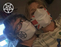14 GIFTS Trademarked Logo Inverted Pentagram Limited Edition Face Mask Covering