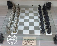 Vampire & Werewolf Chess Set/Ornament 43cm