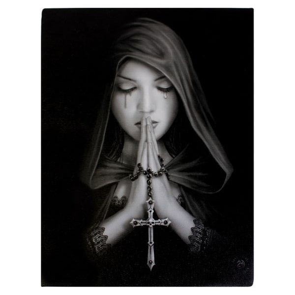 19X25CM GOTHIC PRAYER CANVAS PLAQUE PICTURE BY ANNE STOKES