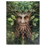 OAK KING PICTURE GREEN MAN CANVAS PLAQUE BY ANNE STOKES 19X25CM