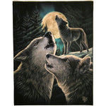 19X25CM WOLF SONG CANVAS PLAQUE PICTURE BY LISA PARKER