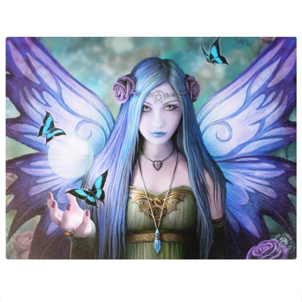 25X19CM MYSTIC AURA FAIRY CANVAS PICTURE PLAQUE BY ANNE STOKES