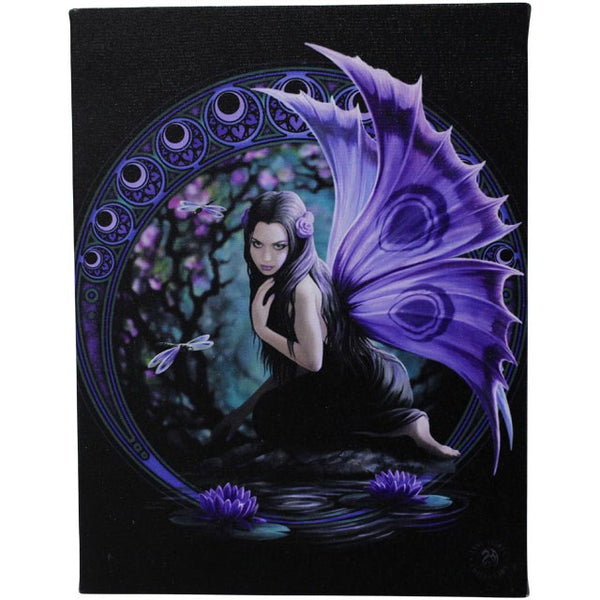 NAIAD CANVAS FAIRY PICTURE PLAQUE BY ANNE STOKES 19X25CM