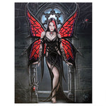 ARACHNAFARIA CANVAS PICTURE PLAQUE FAIRY BY ANNE STOKES 19X25CM