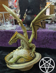Saturn Guardian Green Planet Dragon Figurine 26.5cm