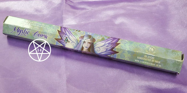 Mystic Aura Lavender Incense Sticks design by Anne Stokes