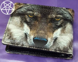Portrait of a Wolf Embossed Wallet 11cm
