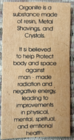 Orgonite Power Crystal Keyring - Home Protect Copper and Chakra