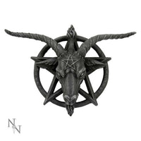 Baphomet Head Goat God Deity Pentagram Wall Plaque 40cm