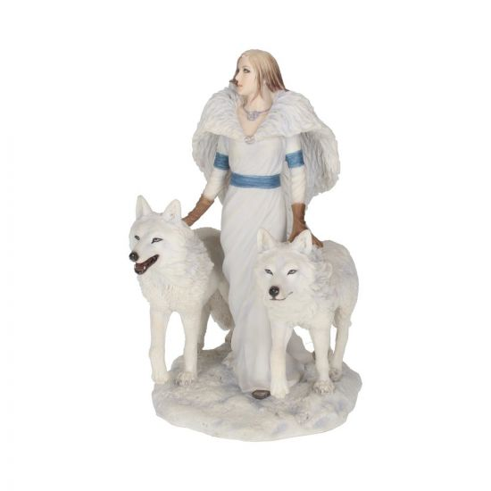 Anne Stokes Winter Guardians Wolf Companion Figurine 23cm