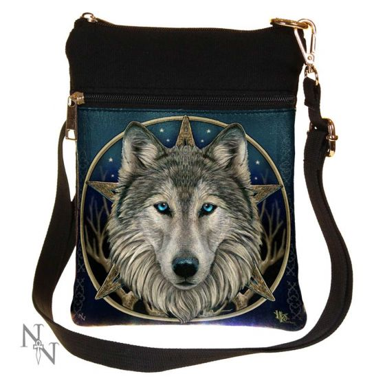 The Wild One Fantasy Wolf Shoulder Bag Design by Lisa Parker 23cm