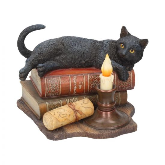 Witching Hour Cat Figurine by Lisa Parker Black Cat & Candle Ornament 20.5cm