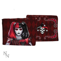 Dark Jester Wallet Red 11cm design by James Ryman