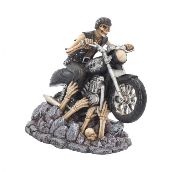 Ride Out Of Hell Skull Biker Figurine by James Ryman 16cm