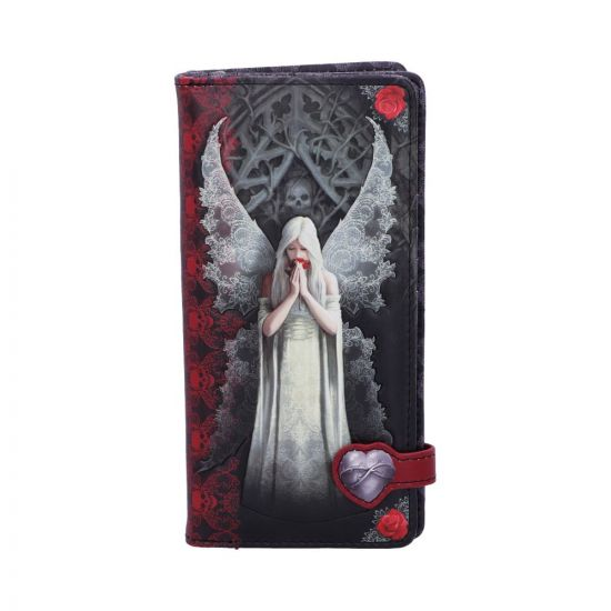 Only Love Remains Gothic Angel Embossed Purse design by Anne Stokes 18.5cm