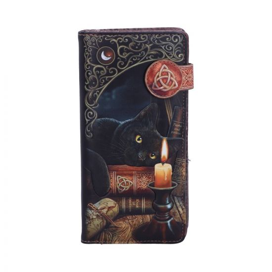 Lisa Parker Witching Hour Cat Witch Embossed Purse Black 18.5cm