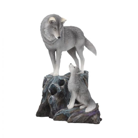 Guidance Ornament Wolf and Pup Figurine by Lisa Parker 25cm