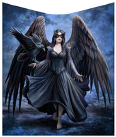 Raven Throw Blanket Design by Anne Stokes 160cm