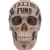 Natural Bone Coloured Traditional, Tribal Tattoo Fund Skull