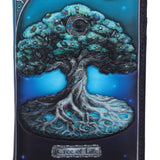 Tree of Life Pagan Wicca Moon Embossed Purse 18.5cm