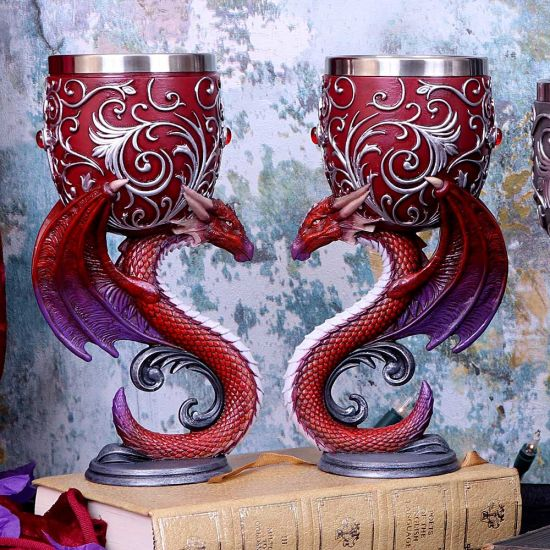 Dragons Devotion Twin Dragon Heart Set of Two Goblets 18.5cm