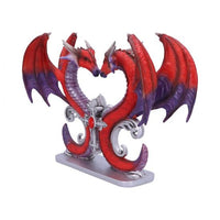 29cm Dragons Devotion Love Heart Bust Figurine