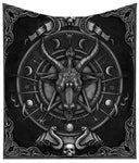 Baphomet Triple Horn Sabbatic Goat Throw Blanket 160cm