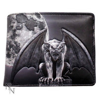 Embossed Gargoyle and Moon Wallet 11cm