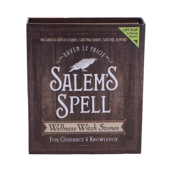 Salem's Spell Kit Set of Six Witches Wellness Crystals Stones in Decorated Box