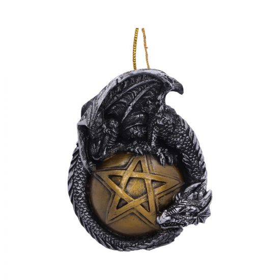 8.89cm Caspar Festive Hanging Dragon Ornament
