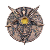 12.6cm Baphomet's Prayer Sabbatic Goat Incense Cone/Stick and Candle Holder