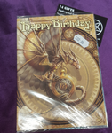 Clockwork Dragon Greetings Card design by Anne Stokes