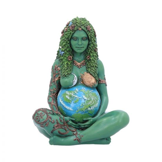 Pre-order 17.5cm Small Ethereal Mother Earth Gaia Art Statue Painted Figurine
