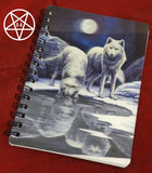 Warriors of Winter Jotter/Journal/Notebook, Wolf Design by Lisa Parker